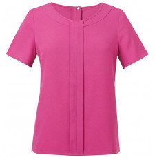 BR122 Women's Verona crepe de chine short sleeve blouse
