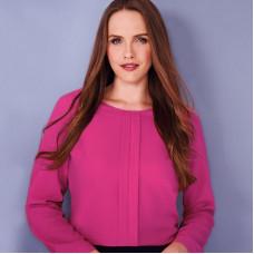 BR121 Women's Roma crepe de chine long sleeve blouse