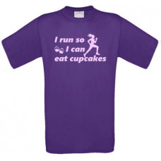 I run so i can eat cupcakes - t-shirt