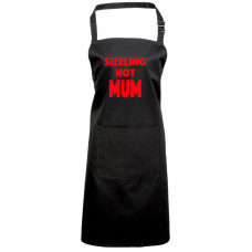 Printed Apron - SIZZLING HOT MUM - ideal gift for Mothers Day