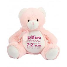 Baby Pink Teddy - Birth Block