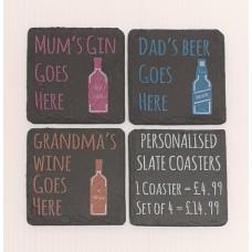 Slate Coasters (4Pcs)