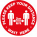 Covid-19 Sticker - Keep your distance solid 300mm Diameter