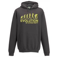 Evolution stag party - Printed Hoodie