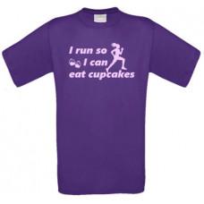 I run so i can eat cupcakes - t-shirt