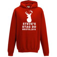 Stag Head - Stag Do - Printed Hoodie