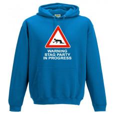 Warning Stag Party in Progress - Printed Hoodie