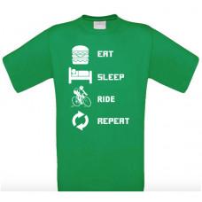 EAT SLEEP RIDE REPEAT - Printed T-Shirt