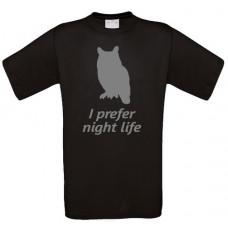 I prefer nightlife owl T-Shirt