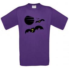 Flying bats & moon